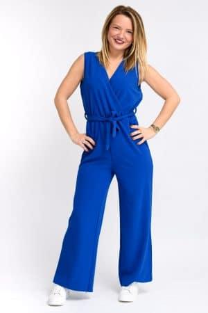 Combinaison bleu electrique femme