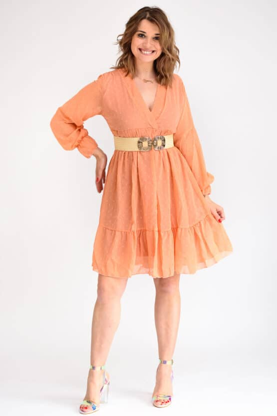 Robe orange femme