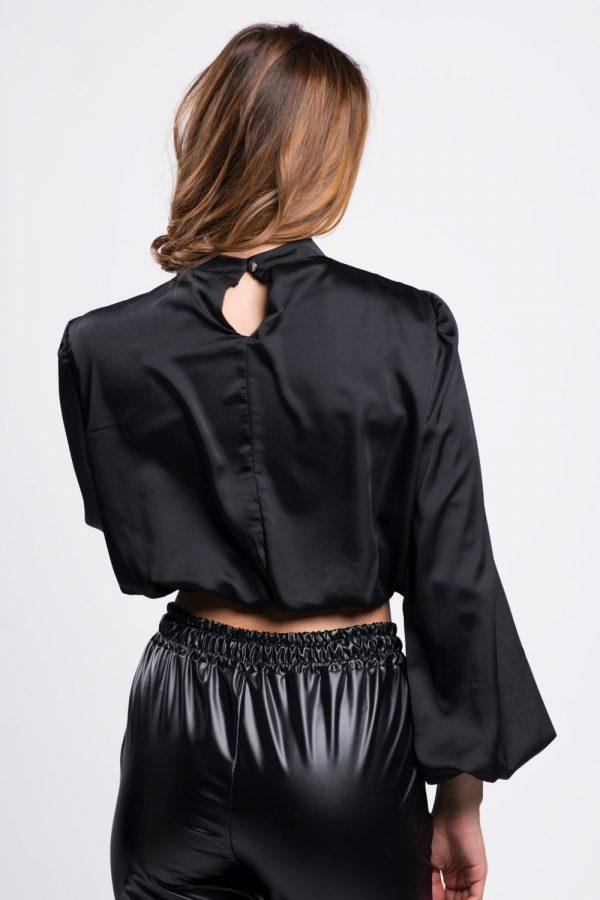 bouse-courte-vêtement-féminim-noir