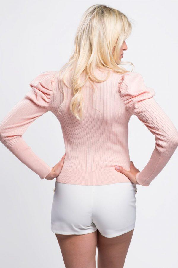 cardigan-vêtement-femme-court-boutonné-rose