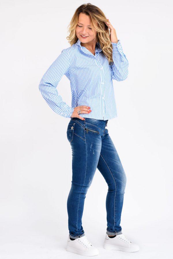 chemise bleu femme