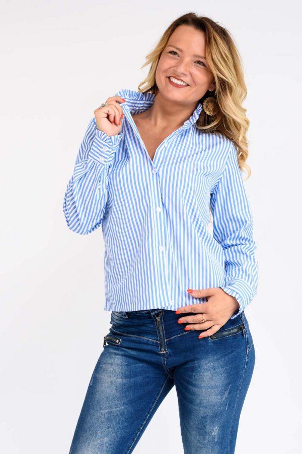 chemise femme bleu