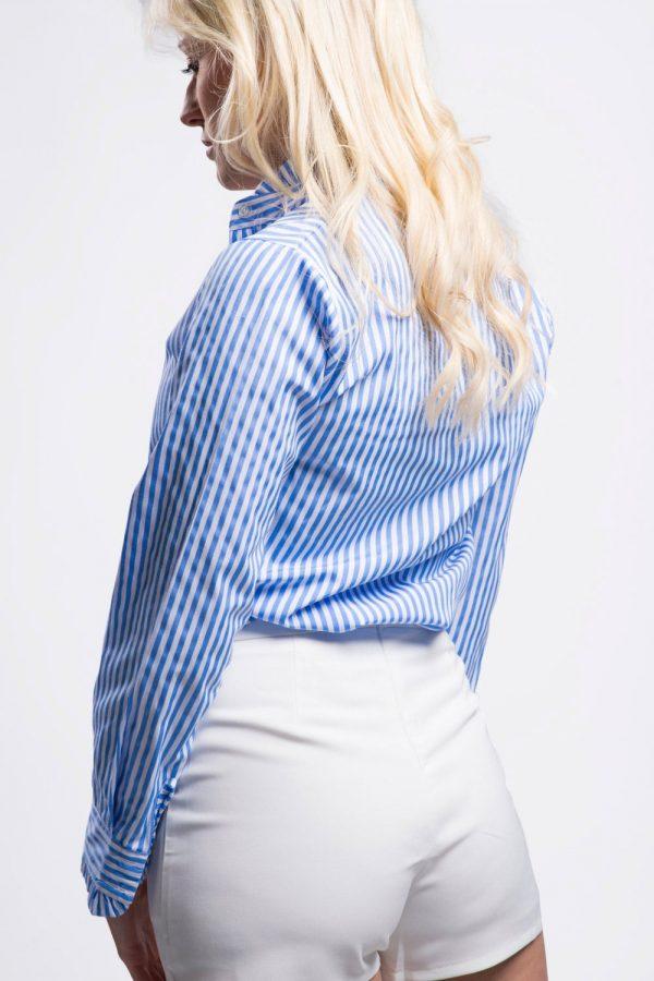 chemise-manche-longue-femme-bleu-rayée