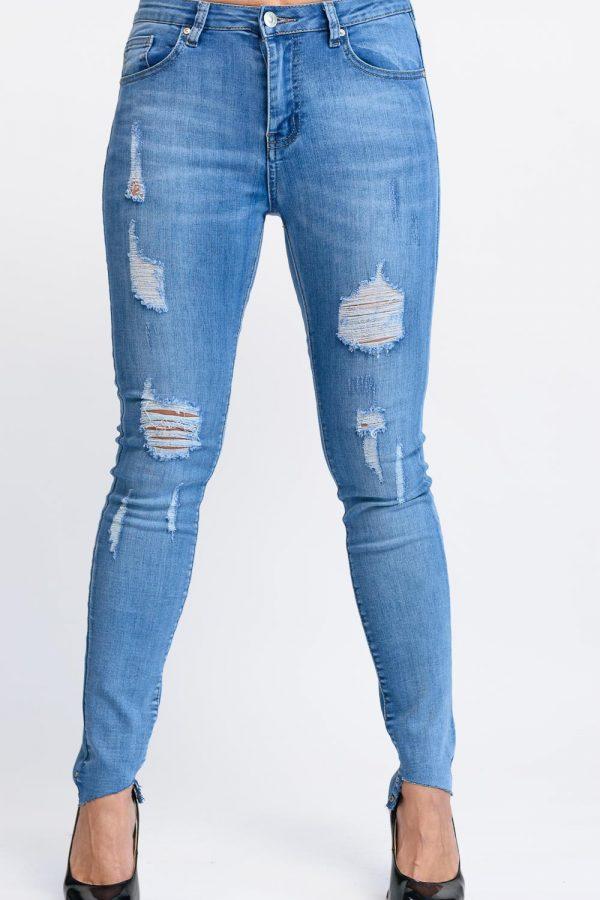 jeans bleu delaver