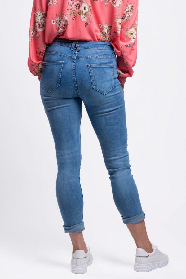 jeans délavé femme