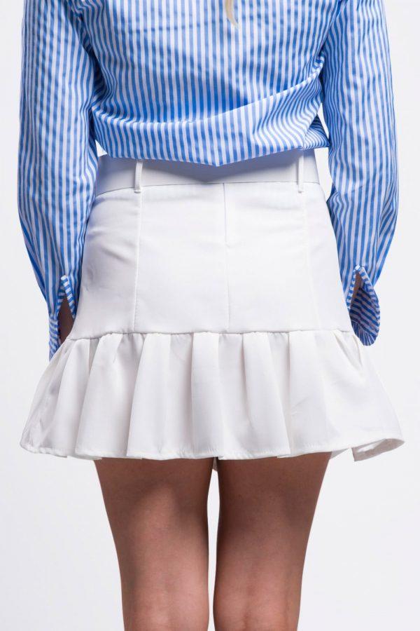 jupe-blanche-volant-vêtement-pour-femme