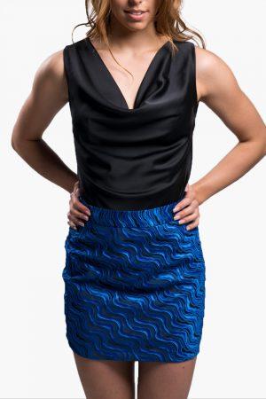jupe bleu nuit et noir