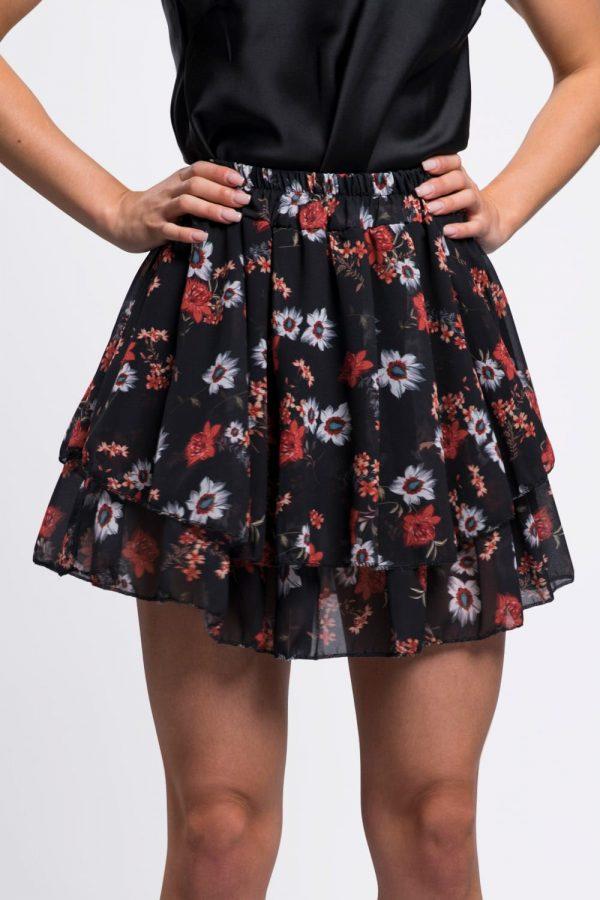 jupe-courte-florale-printemps