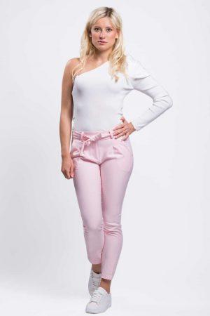 pantalon à pince rose