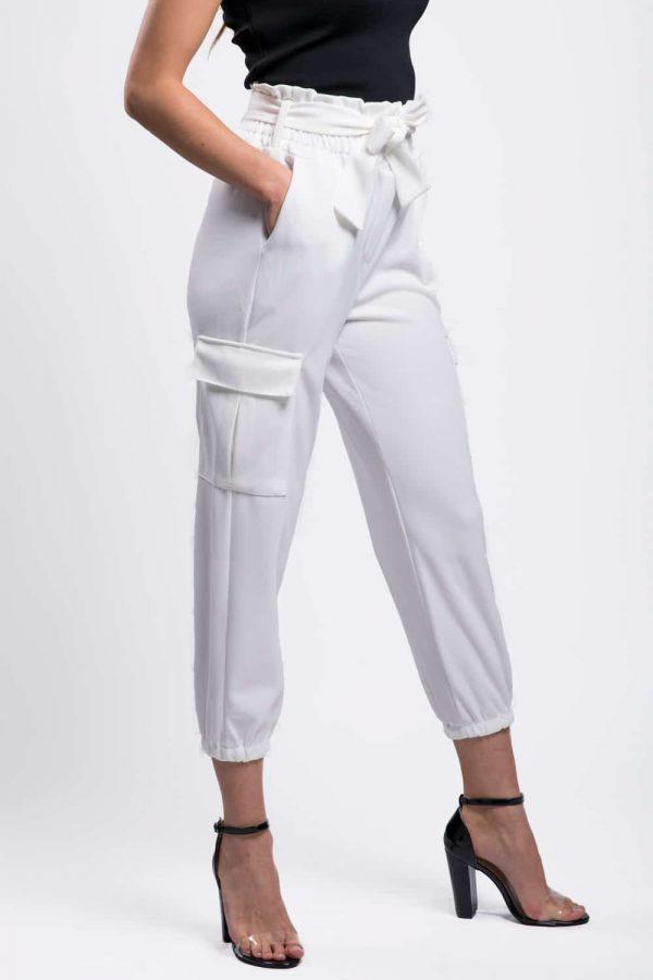 pantalon blanc femme