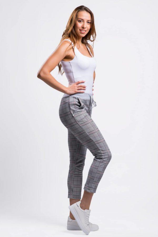 pantalon femme à carreaux