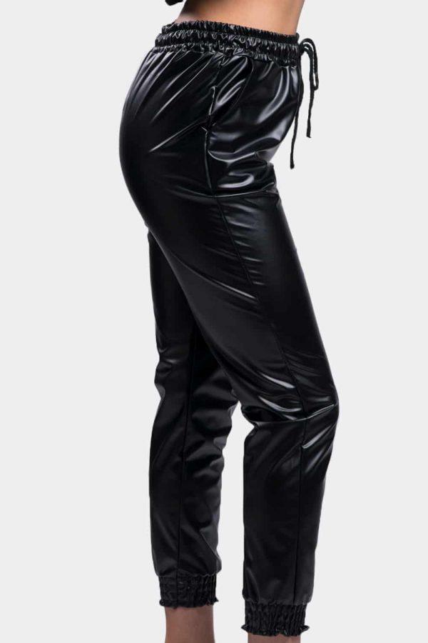 pantalon jogging simili cuir