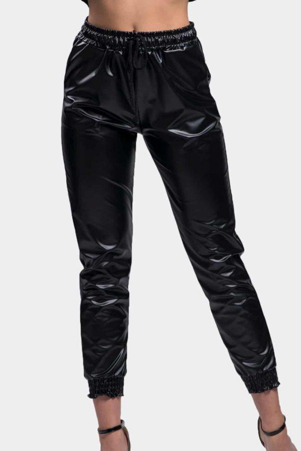 pantalon jogging simili cuir pas cher femme