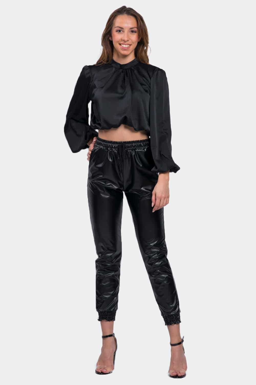 pantalon simili cuir