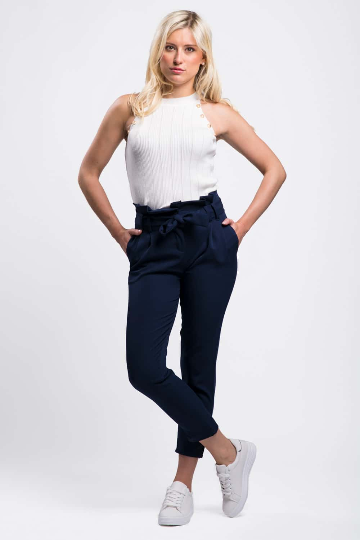 pantalon taille haute femme