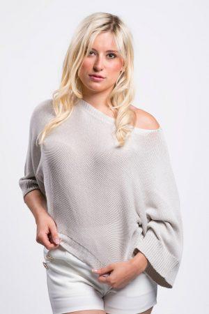 pull-beige-coton-vêtement-femme