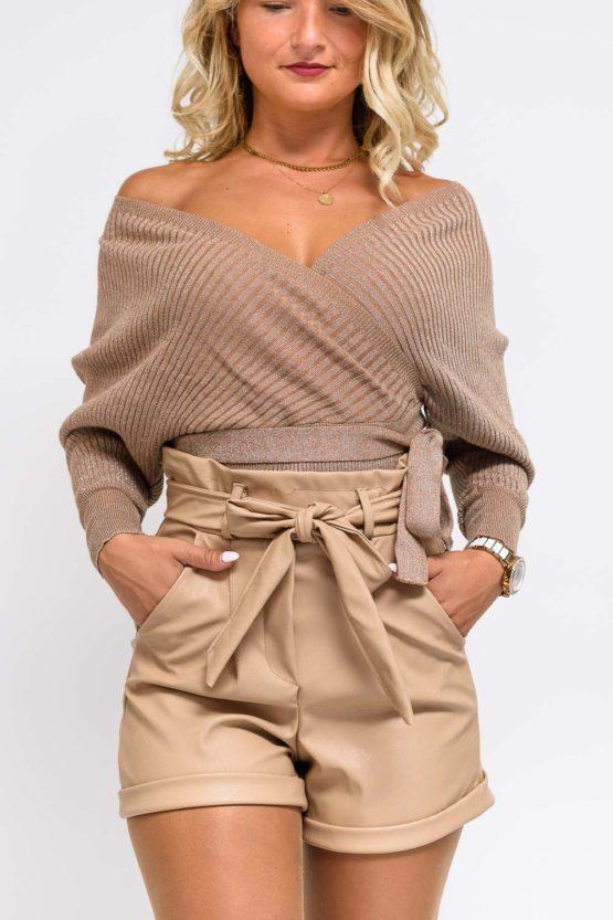 pull beige femme