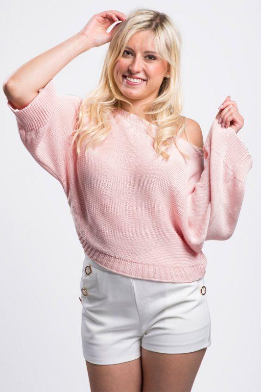 pull-coton-rose-vêtement-femme