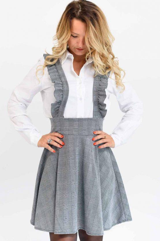 robe à bretelles grise