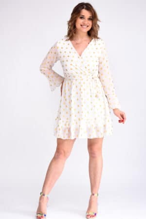 robe blanche et or
