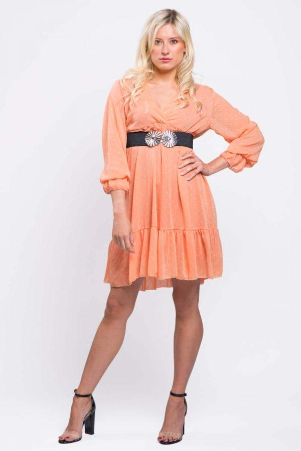 robe-évasée-orange