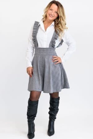 robe ecoliere grise