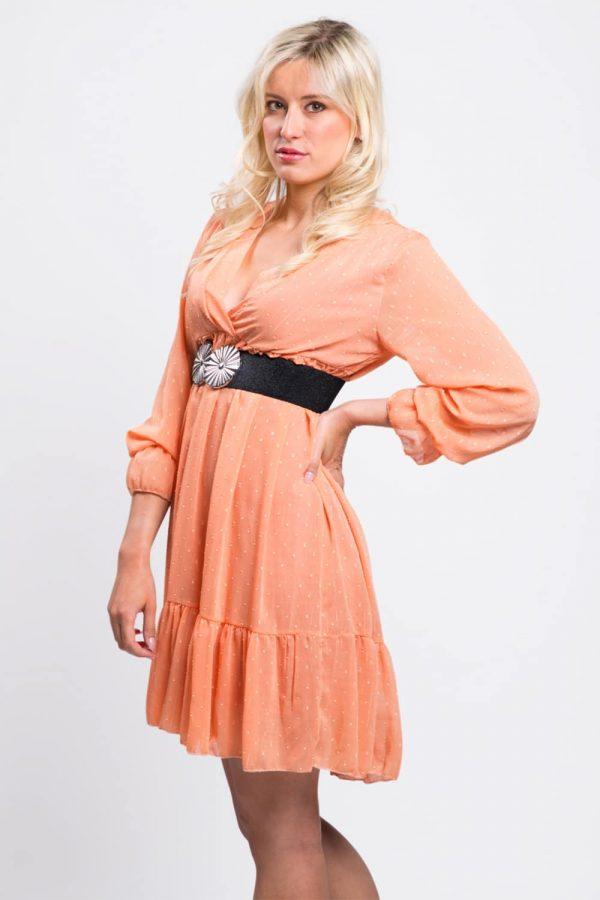 robe-femme-soirée-orange