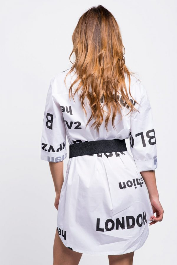 robe-habillée-chemisier-en-coton-blanc
