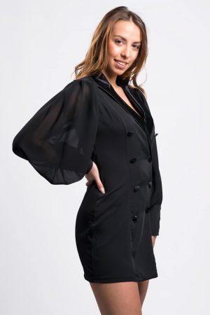 robe-noir-chic-à-printemps-été