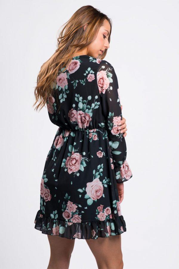robe-noir-fleurie