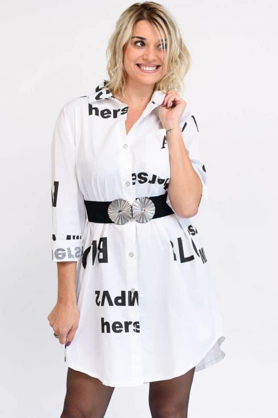 robe noire et blanc
