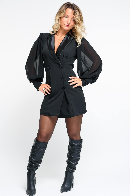 robe noire femme