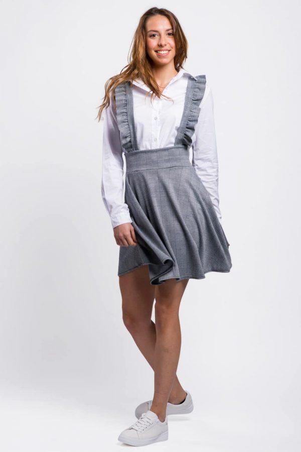 robe-salopette-grise-évasée