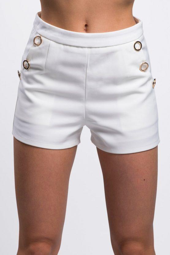 short-blanc-avec-anneaux-dorés