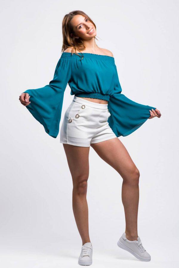 top-bleu-femme-chic