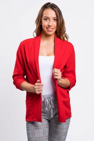 veste-blazer-rouge-femme-printemps