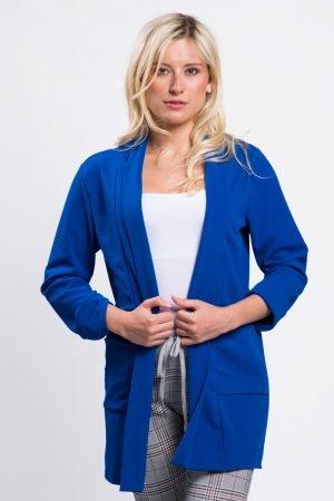 vester-femme-mi-saison-blazer-bleu