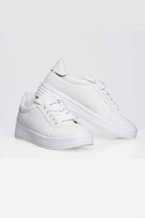 basket blanche femme