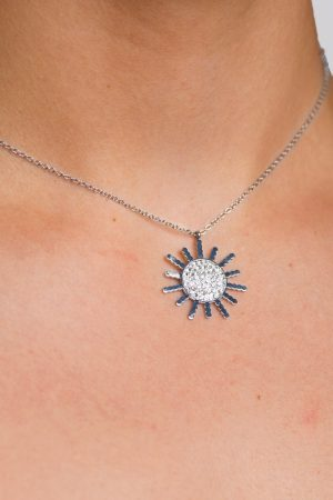 bijoux collier argent femme