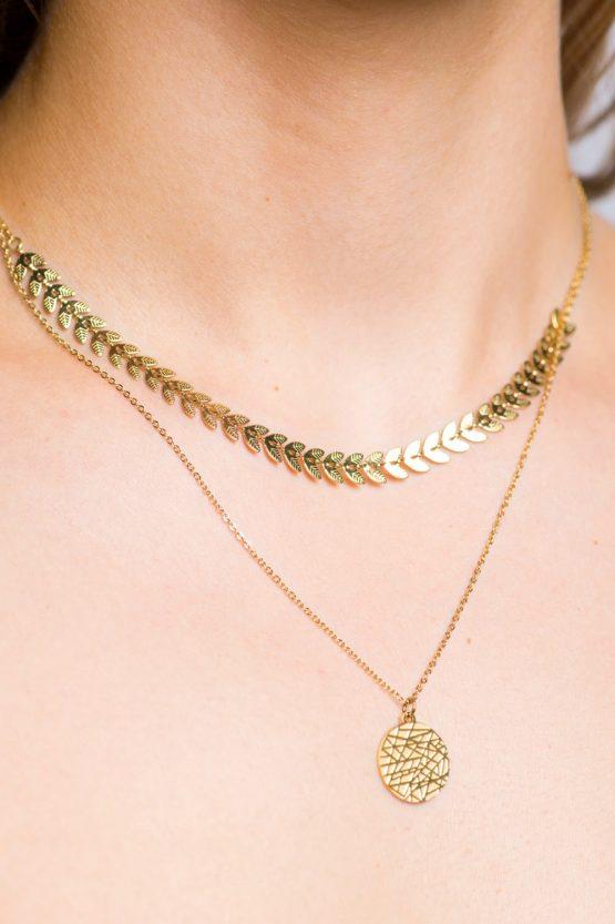 collier or bijoux femme