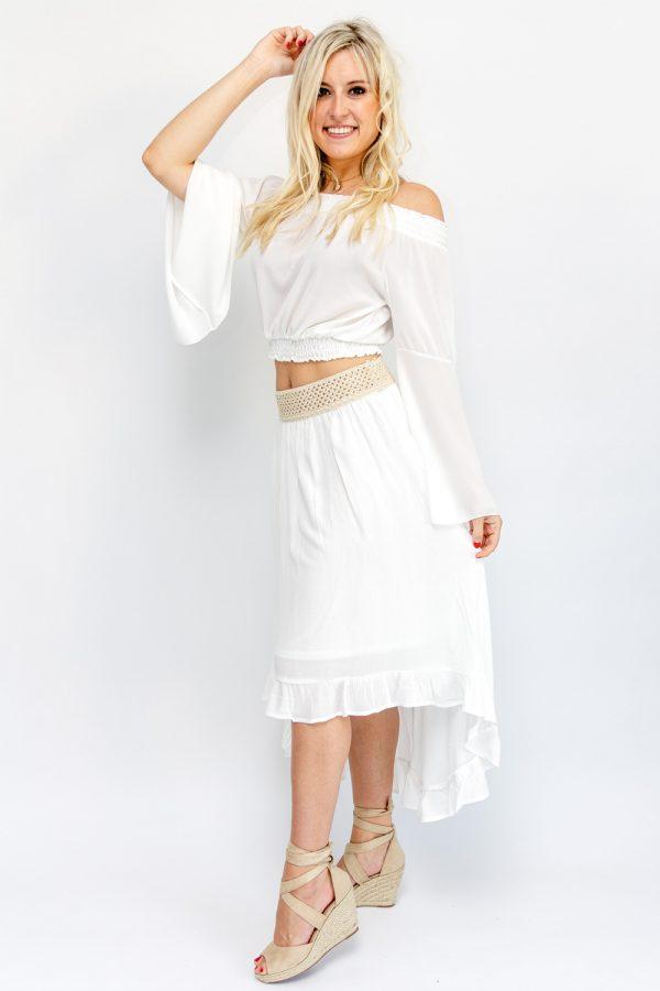 jupe bohème blanche
