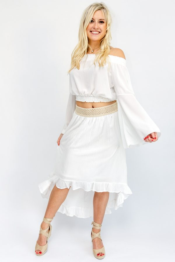 jupe longue blanche