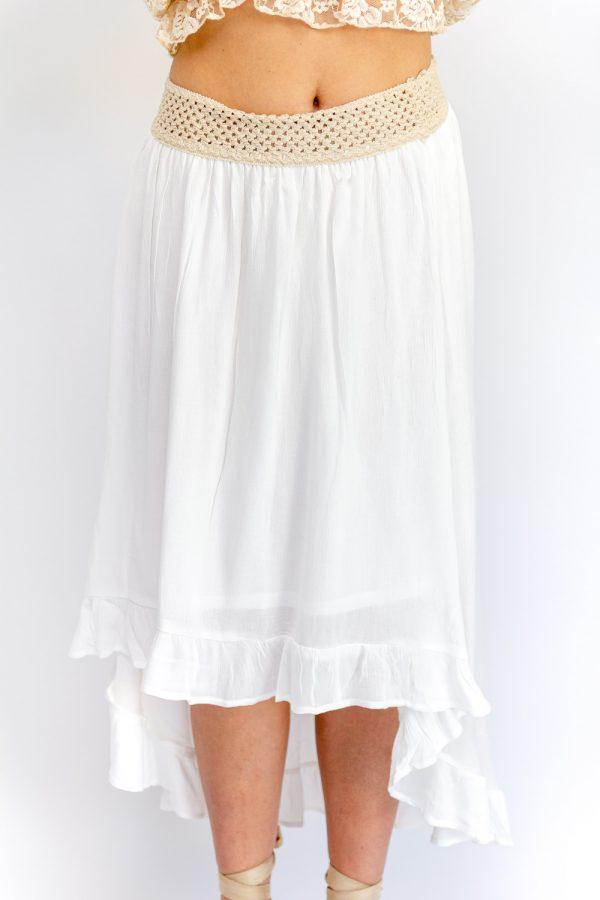 jupe blanche bohème
