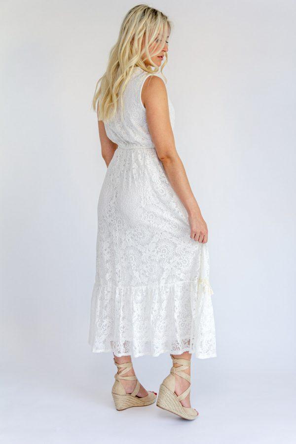 Robe dentelle blanche