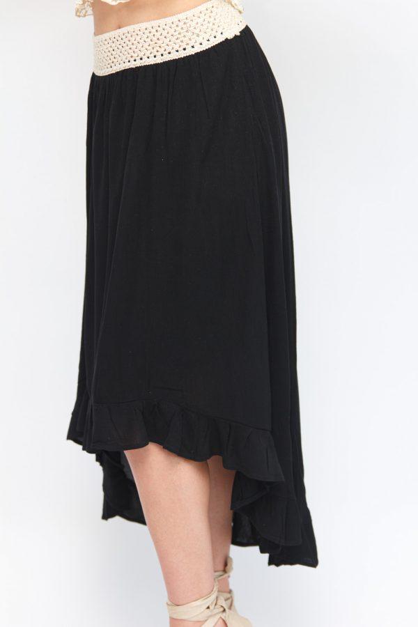 jupe longue noirr bohème