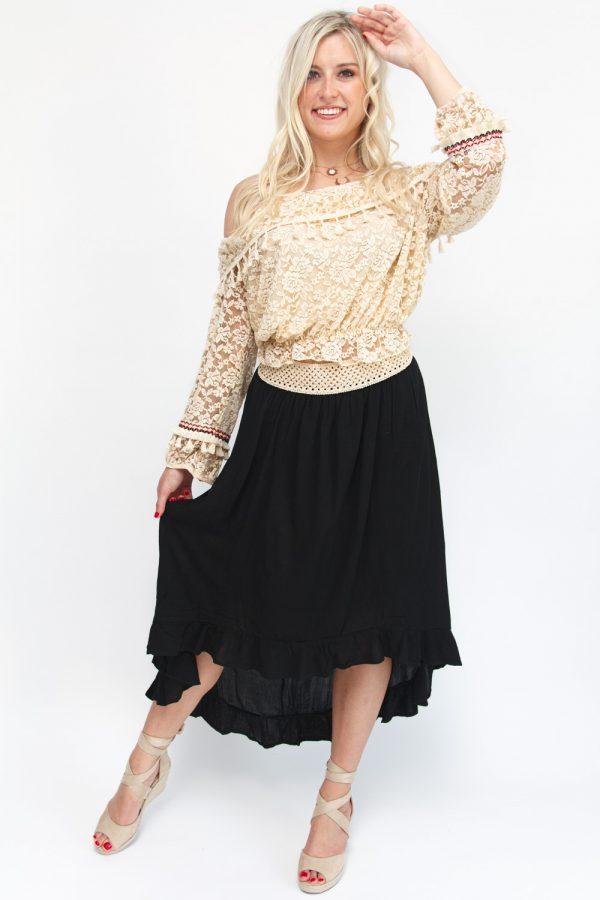 jupe noire bohème