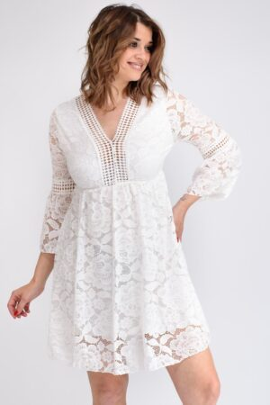 robe blanche a dentelle