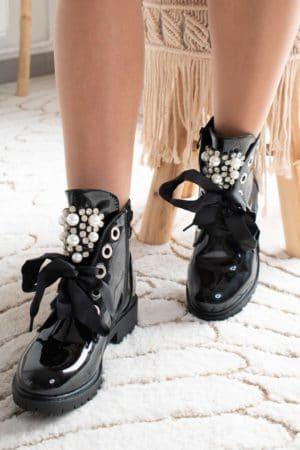 boots noir vernis