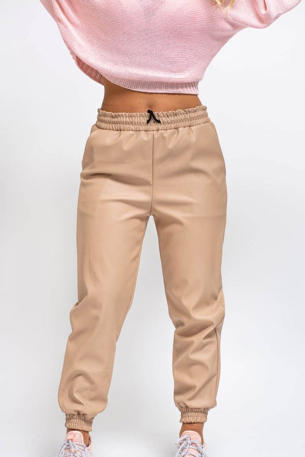 pantalon femme simili cuir