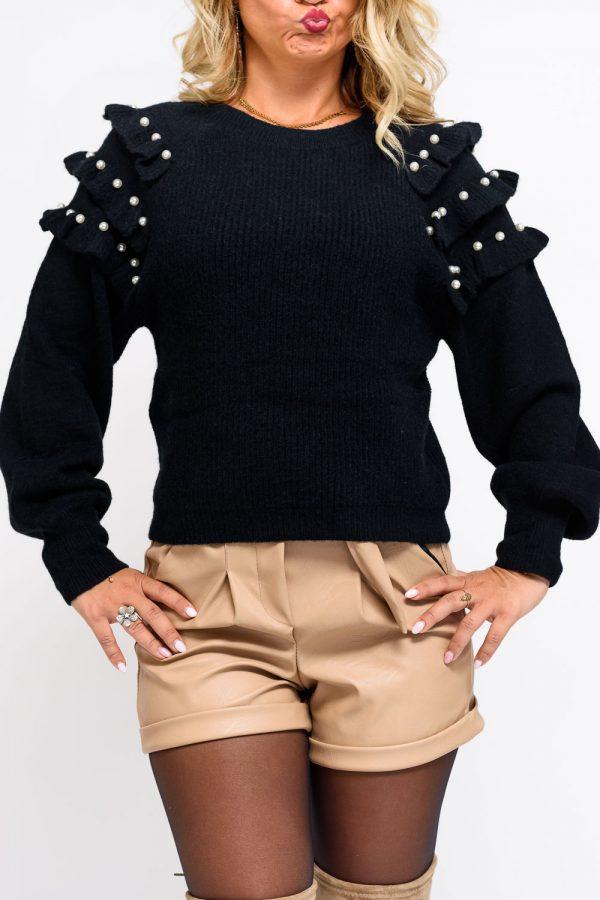 pull noir femme
